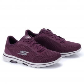 Tênis Go Walk Lucky Skechers Feminino - Bordo