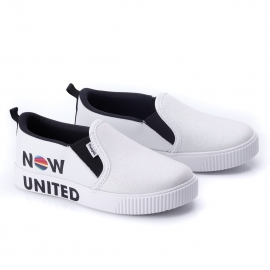 Tênis Feminino Infantil Now United Slip On  - Branco
