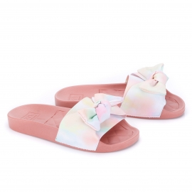 Tamanco Slide Tie Day Moleca Feminino - Multicolor