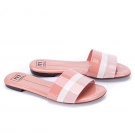 Tamanco Slide Moleca Feminino - Light blush/creme