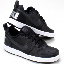 Tênis Court Borough Low Ep Nike Juvenil - Preto/branco