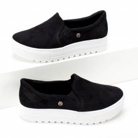 Tênis Via Marte Slip On Feminino - Preto