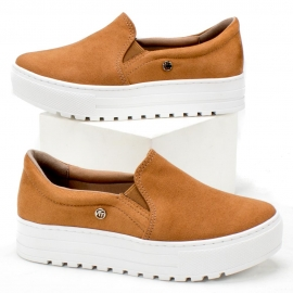 Tênis Via Marte Slip On Feminino - Camel