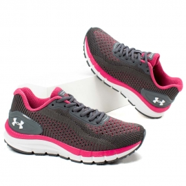 Tênis Under Armour Charged Skyline Feminino  - Cinza/pink