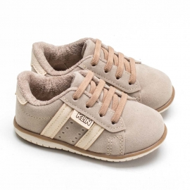 Sapatênis Klin Masculino Infantil - Taupe/off white