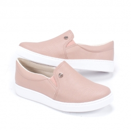 Tênis Via Marte Slip On Feminino - Amendoa