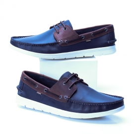 Mocassim Rizzi Couro Freeway Masculino - Midnight