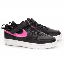 Tênis Infantil Court Borough Low 2 Nike Feminino - Preto/pink