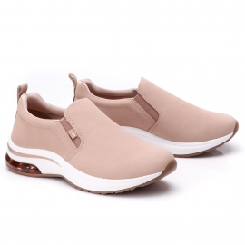 Tênis Slip On Via Marte Feminino - Amendoa