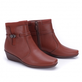 Bota Anabela Piccadily Cano Curto - Chocolate